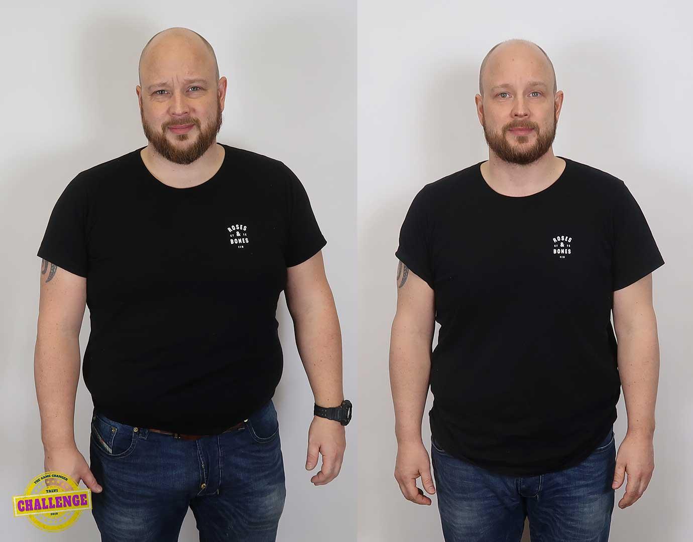 16 kiloa rasvaa pois