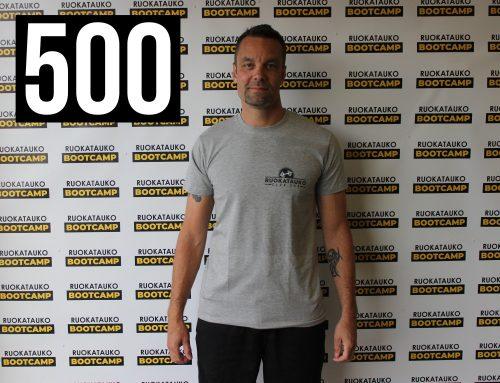 Jussi ja 500 treeniä täyteen